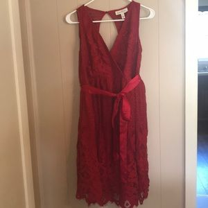 Jessica Simpson Maternity Red Lace Dress Size M